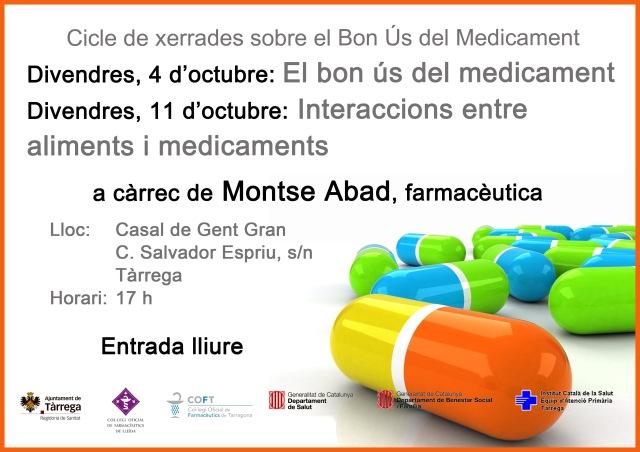Cartell xerrada el bon us dels medicaments