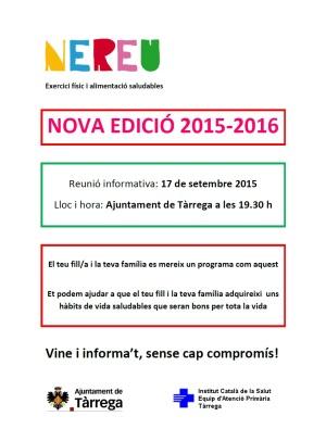 cartell NEREU 2015-2016